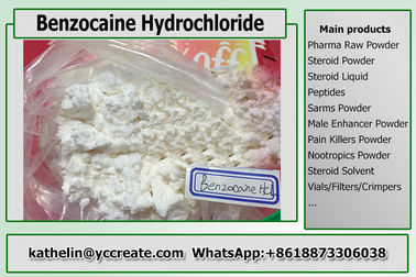 China Local Anesthetic Benzocaine Hydrochloride / Benzociane HCl USP Grade For Pain Killers 23239-88-5 supplier